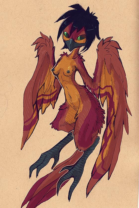 Harpygirl by Sciurida