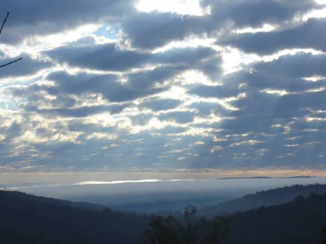 Foggy Rising Sun