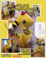 Ampharos Plushie by Thoaee