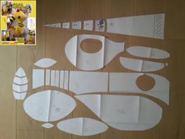 Ampharos plush Patterns by Thoaee