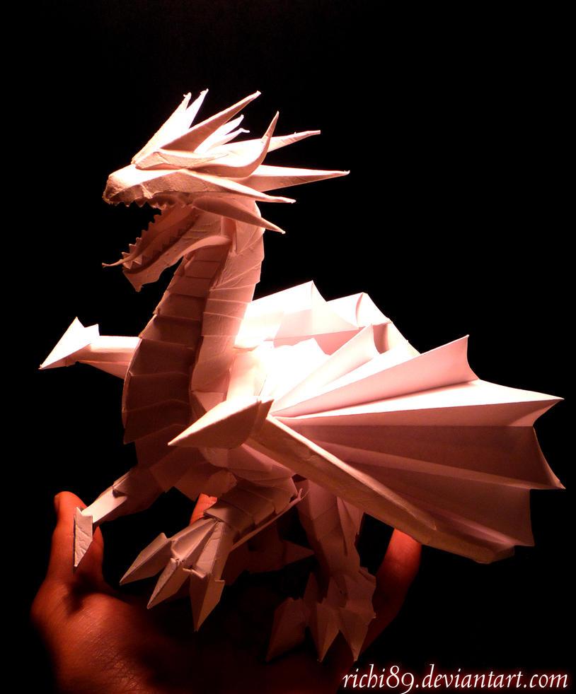 Дракончик из бумаги для начинающих