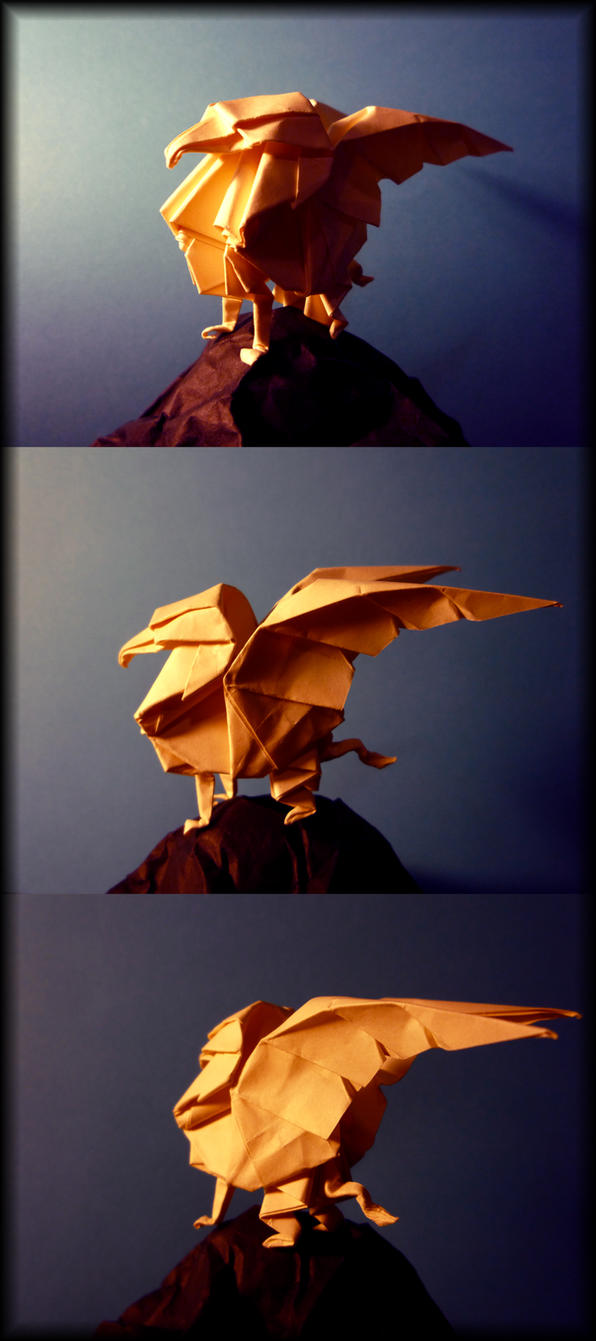 Origami Gryphon By Richi89 On Deviantart Mouse Origamiorigami Diagramorigami Instructionsorigami