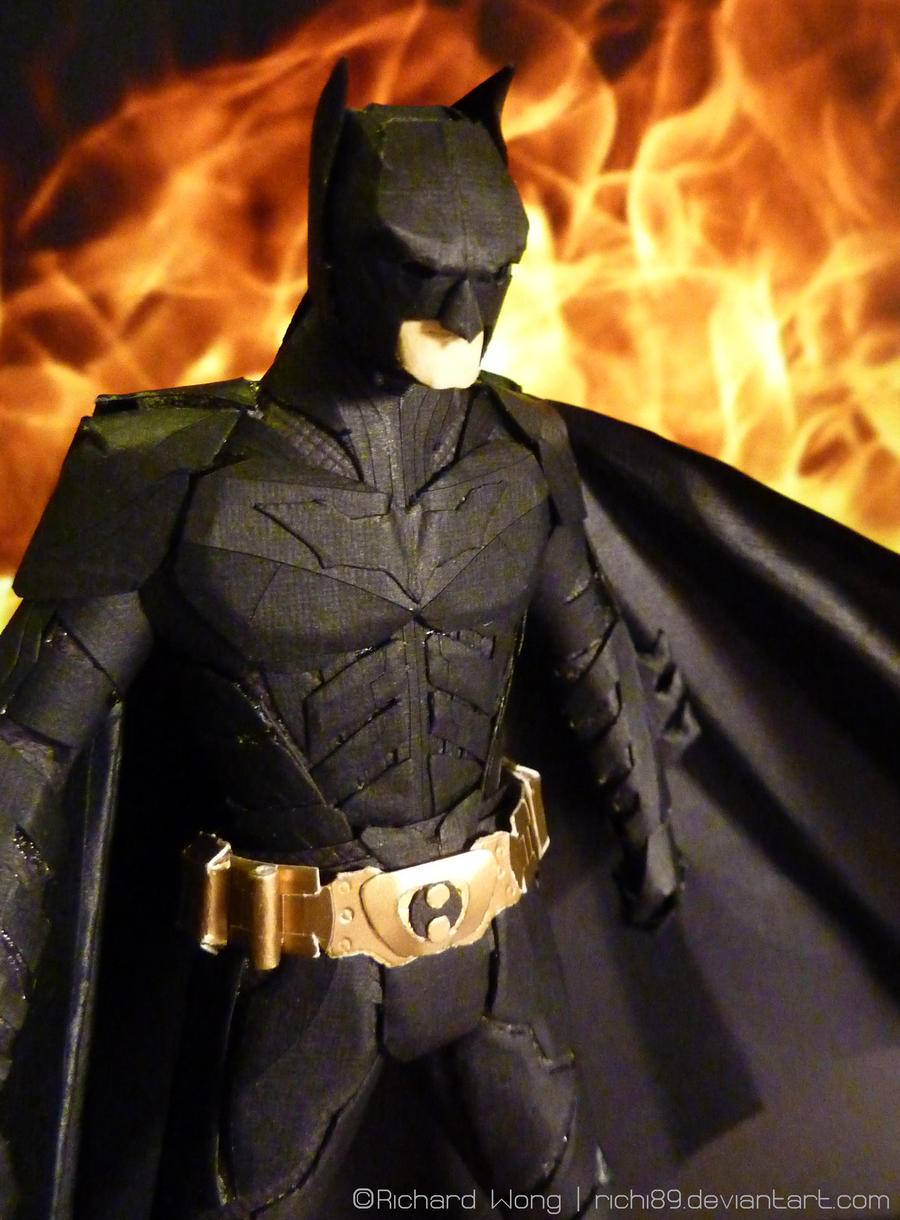 wallpaper craft batman: Paper Batman Close Up By Richi89 On DeviantArt