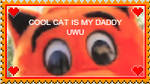 cool cat stamp by CyberMosquito