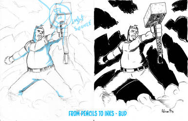 Pencils to inks 2 by ADRIAN9