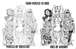 from pencils to inks