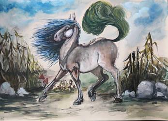 weird sassy horse.  by house89