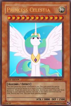 Princess Celestia YGO Card