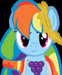 Rainbow Dash At the Gala Vector
