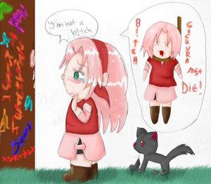 Poor Sakura by XSaku-ItaX by SD-love