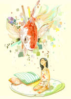 gold fish by dugonism