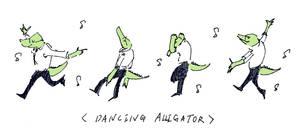dancing alligator by dugonism