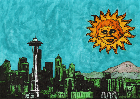 The Sun Is MAD Over The Emerald City by PhotocoyoteArt