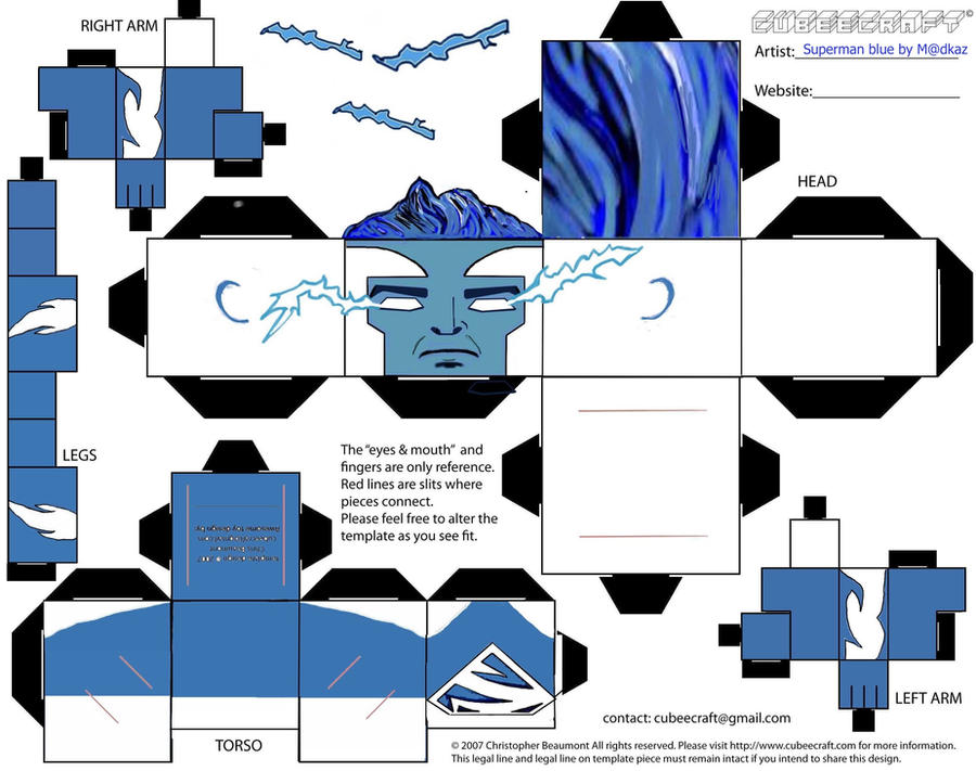 Superman Blue by Matzekatze