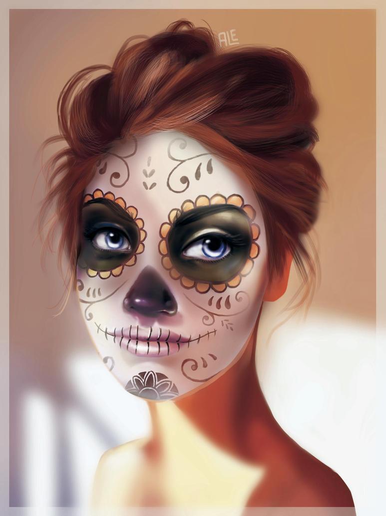 Las catrinas se aguantan by alemchl on deviantart - Maquillage dia de los muertos ...