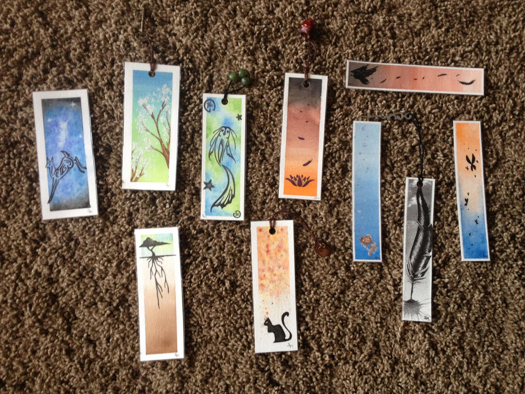 Watercolor bookmarks - Watercolor Bookmarks By Empressakitla