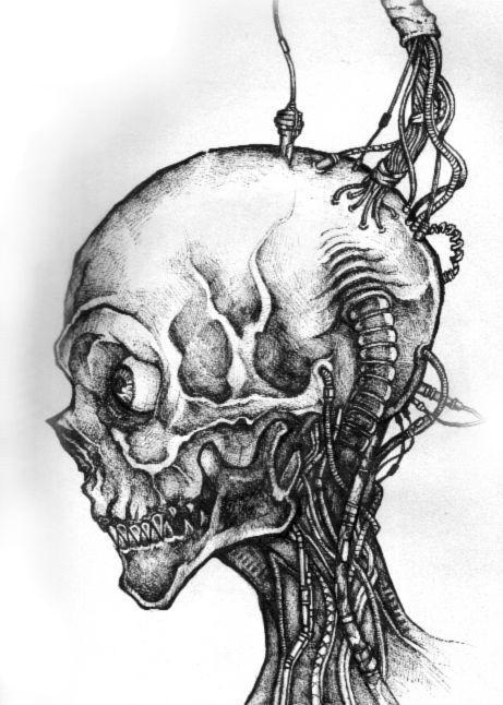 cyberhead by skumm