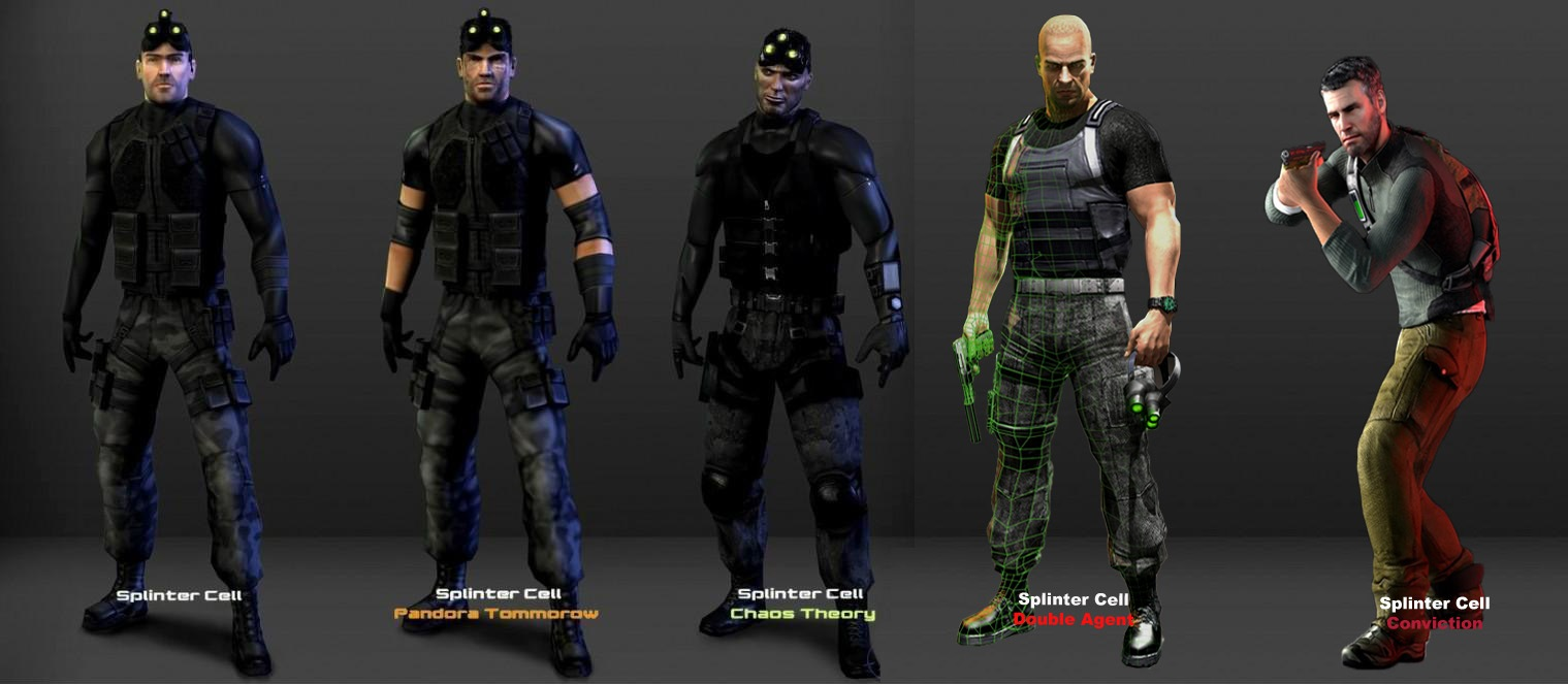 Evolution Of Sam Fisher By Lidiaforza On Deviantart