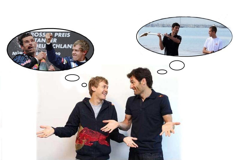 Mark Webber and Seb Vettel by LidiaForza