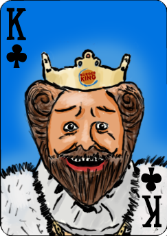 Burger King of Clubs by LupineWarlord