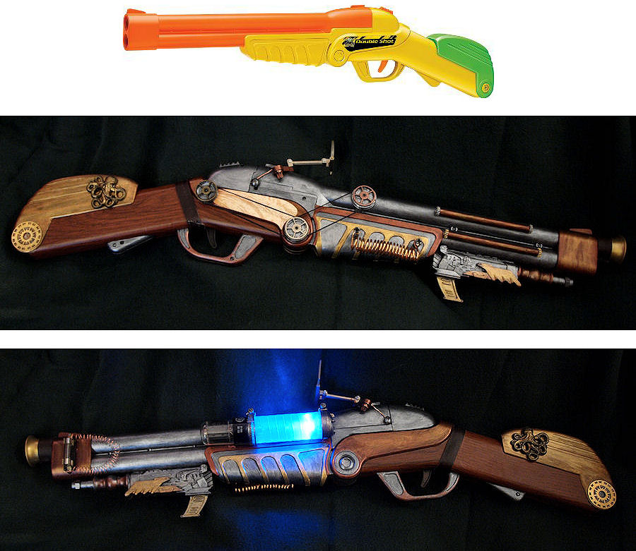Buzz Bee Double Shot Steampunk Mod by ajldesign