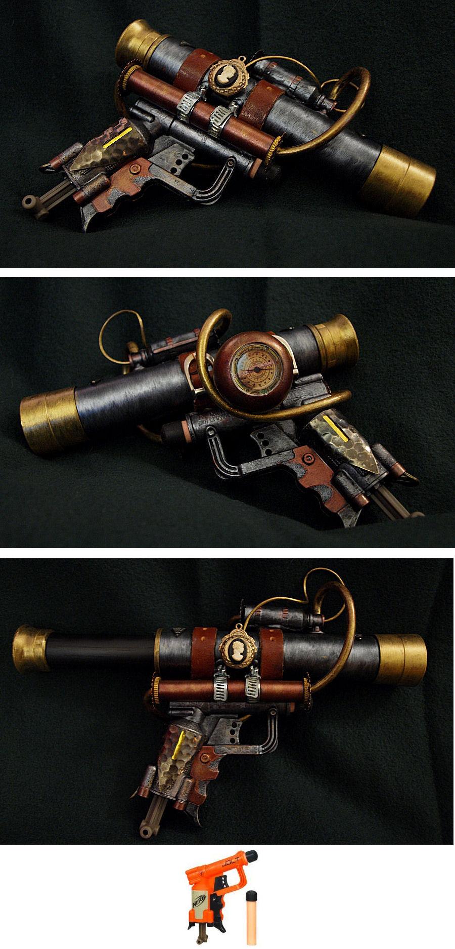 Steampunk Telescopic Pistol by ajldesign