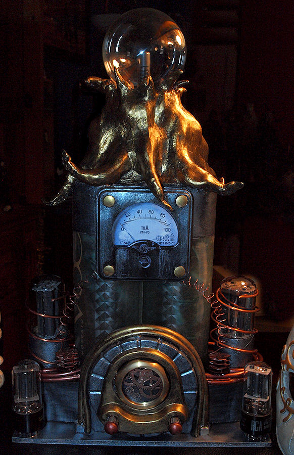 Steampunk Octopus Lamp Unlit by ajldesign