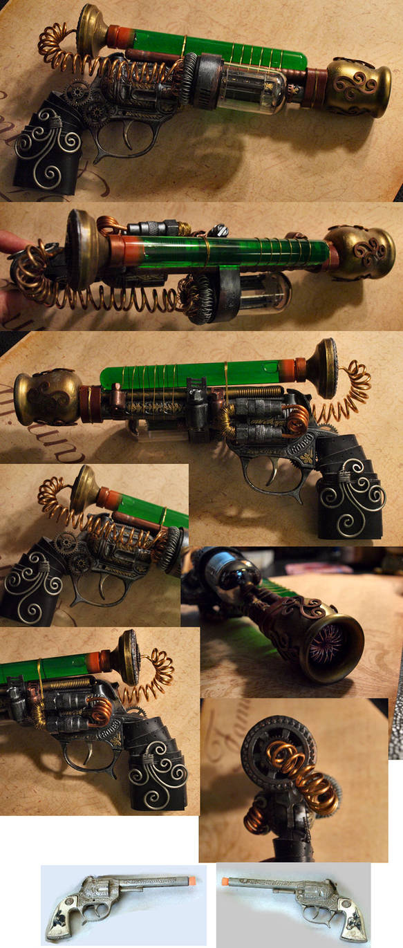 Tesla Western Steampunk Pistol by ajldesign