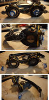 Leather Steampunk Aviator Goggles by ajldesign