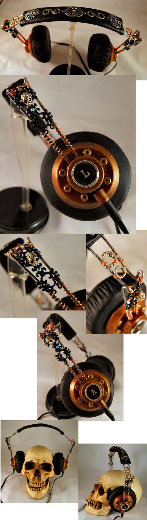 Steampunk Headphones by ajldesign