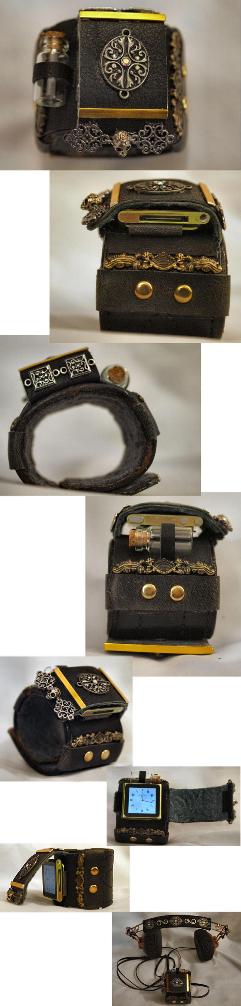 Steampunk Wrist Bracer by ajldesign