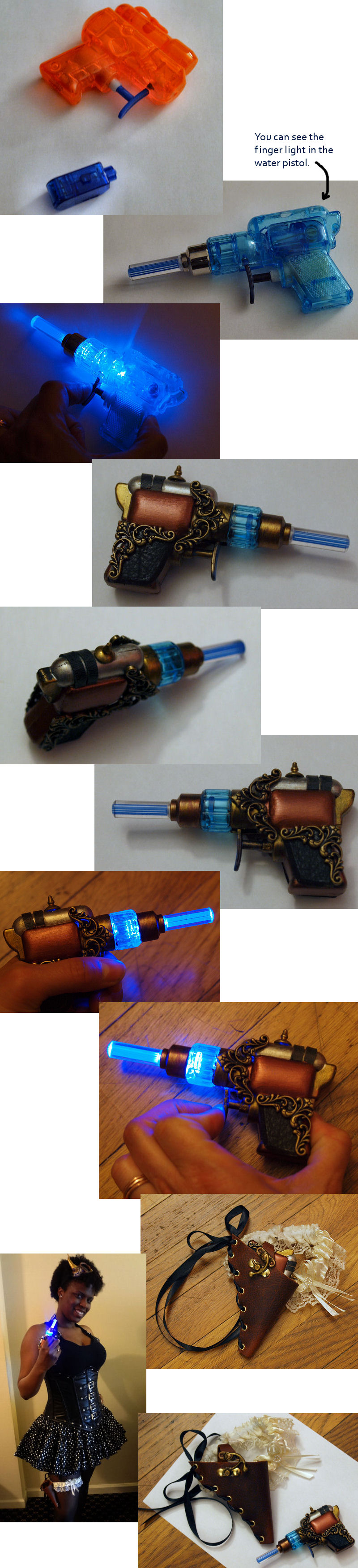 Steampunk Lady Killer Pistol and Garter Holster by ajldesign