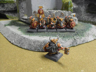 Dwarf Lord and his Warriors by SirPerryBerry