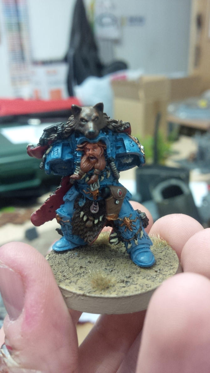Space Wolves Njal Stormcaller W.I.P by SirPerryBerry