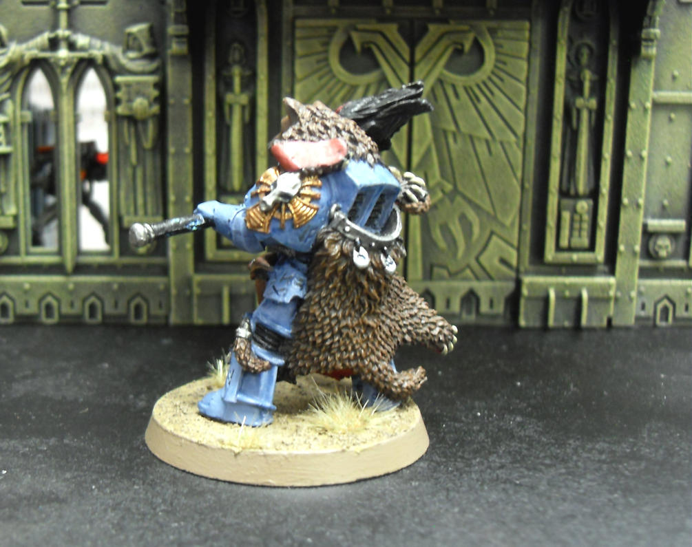Space wolves Njal Stormcaller in Terminator Armour by SirPerryBerry