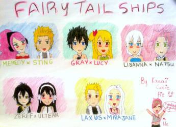 Fairy Tail Ships by kawaii-cutie-pie