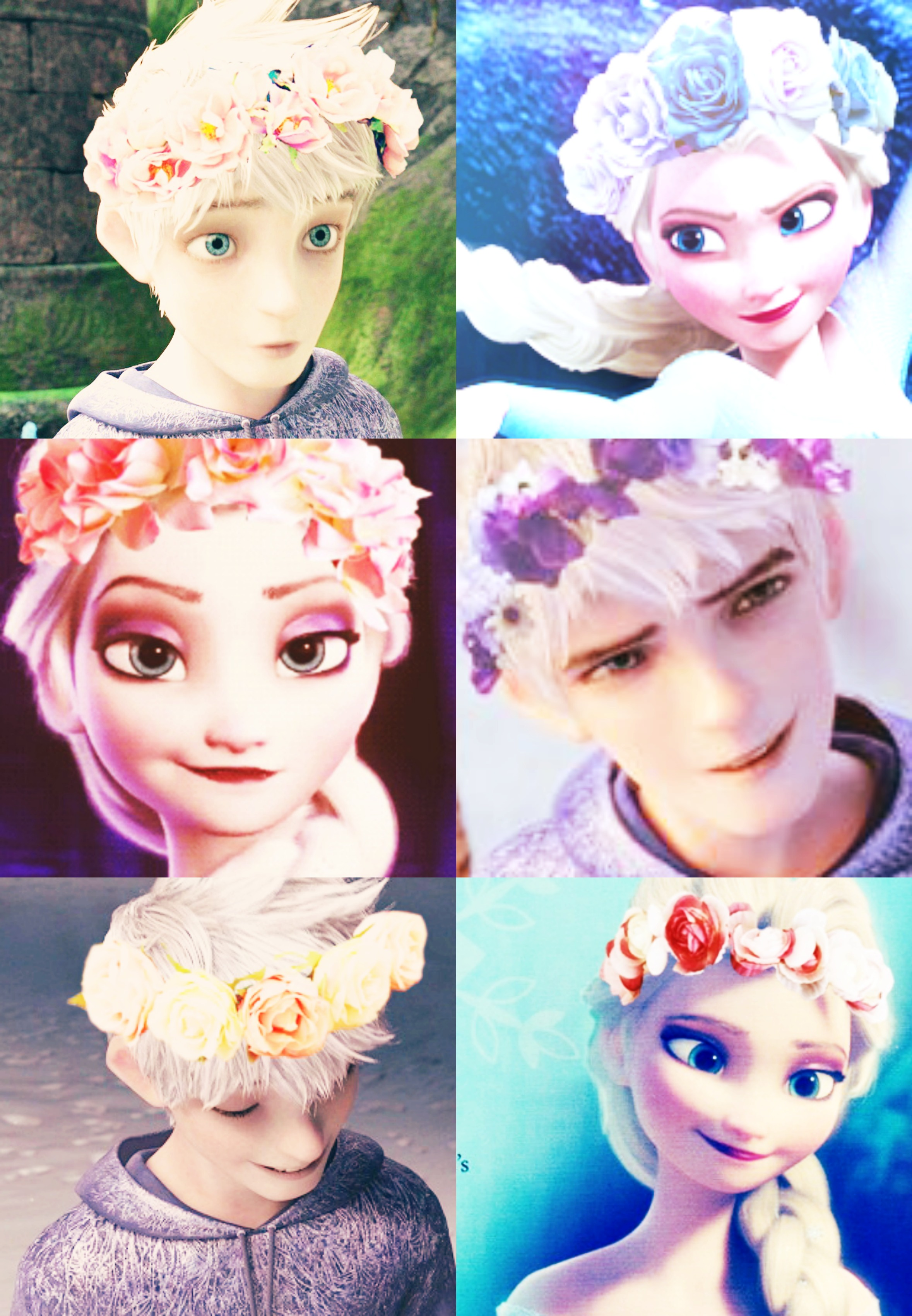 Jelsa Frower Crowns by kawaii-cutie-pie
