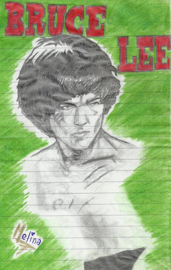 Dibujo de Bruce Lee by PrincessPop13