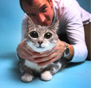 Struggling Jeno the studio cat by c1p0