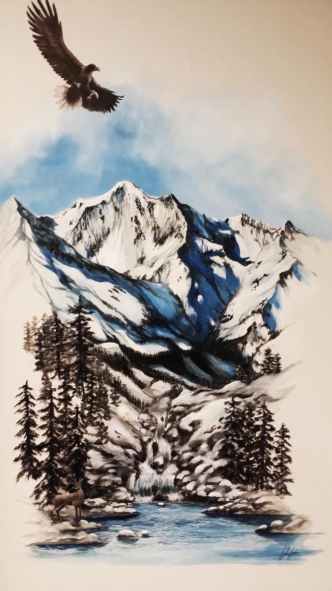 Mountain landscape by Siamone