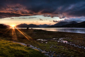Scottish Sunset by Roamerick