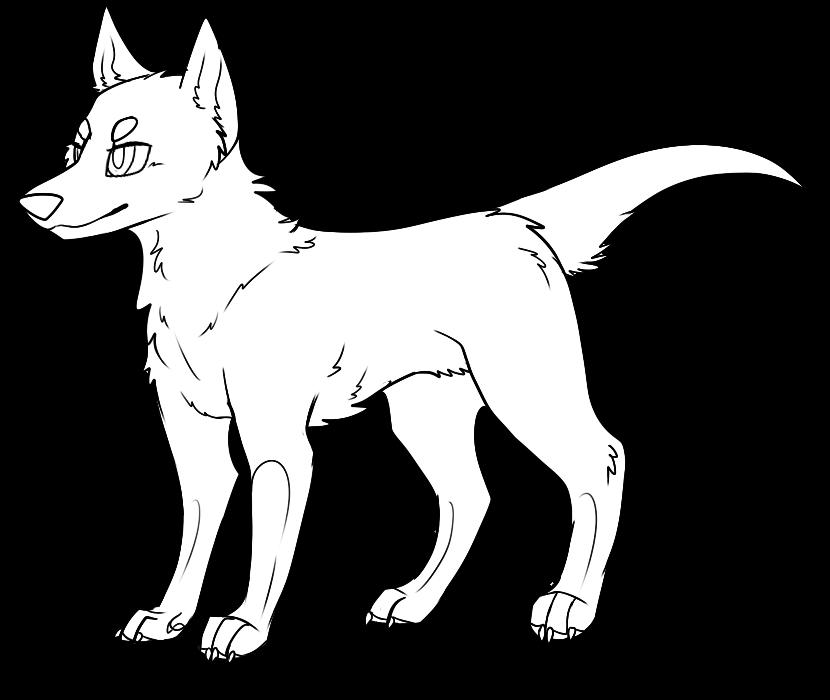Line Art Dog : Dog lineart by pandorathedragon on deviantart