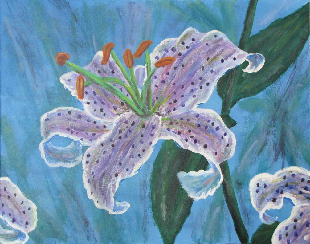 Purple Stargazer Lily by PumpkinJack6