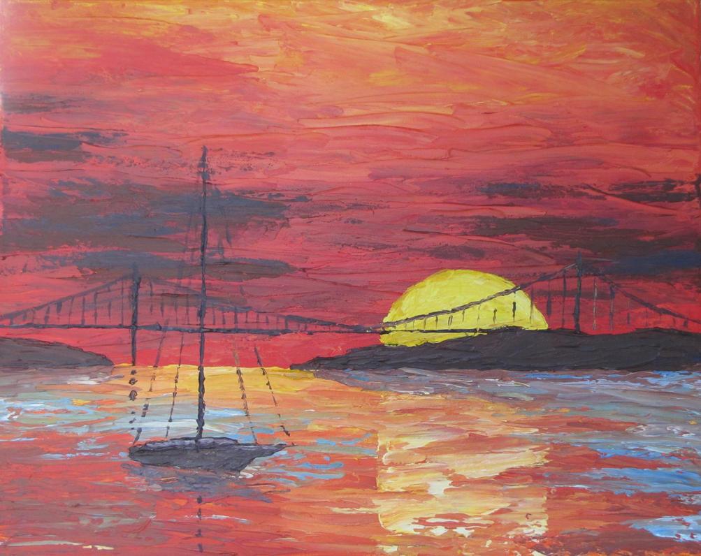 Golden Gate Bridge By The Sunset by PumpkinJack6