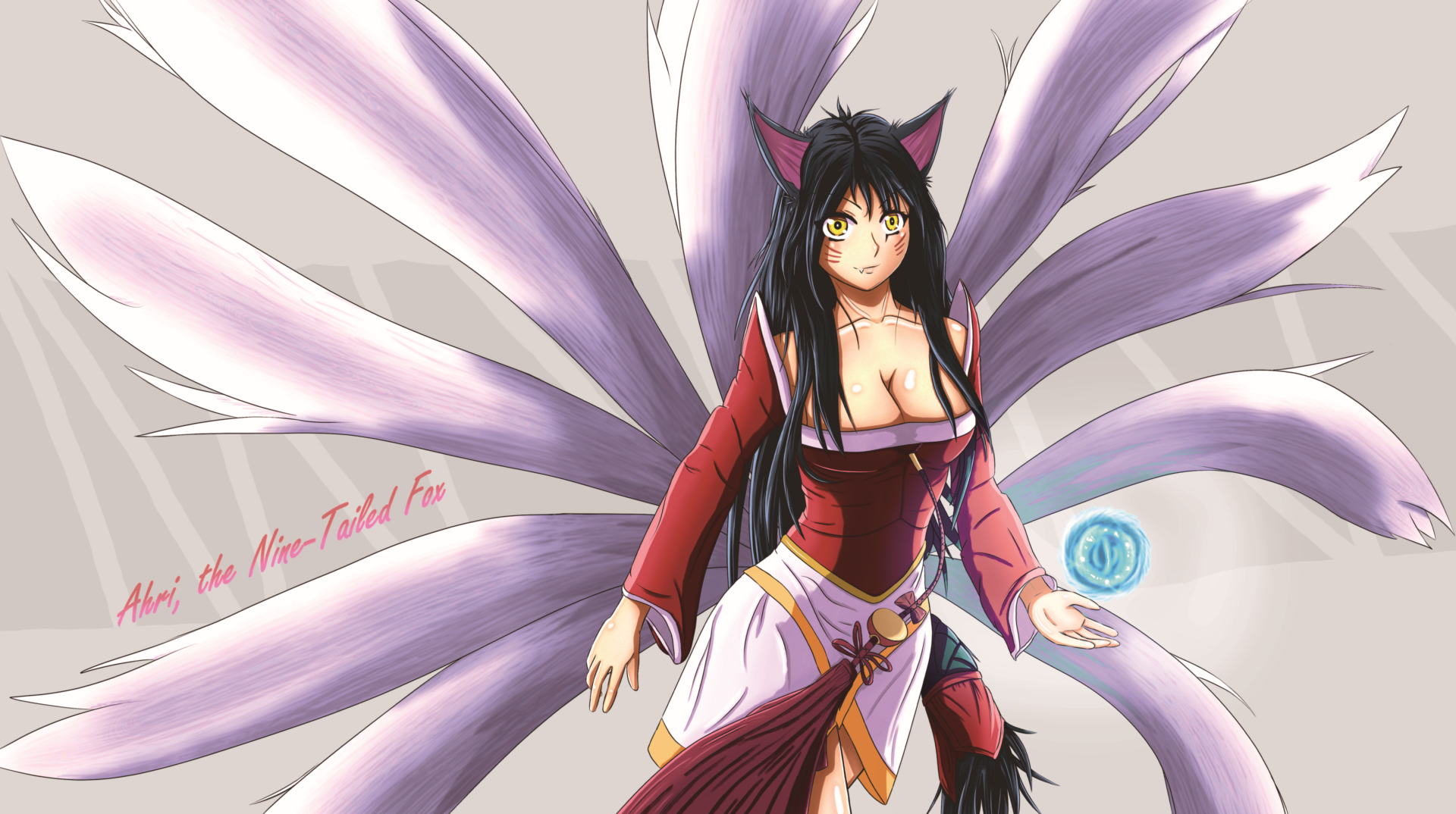 Ahri The Nine Tailed Fox Wallpaper By Lostgryphon On Deviantart