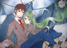 MC and Hanami (OC) by Angon623