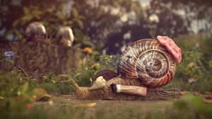 Urban Snail by Hypertaf-Tafkah