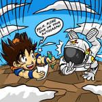 Son Goku and Felix Baumgartner