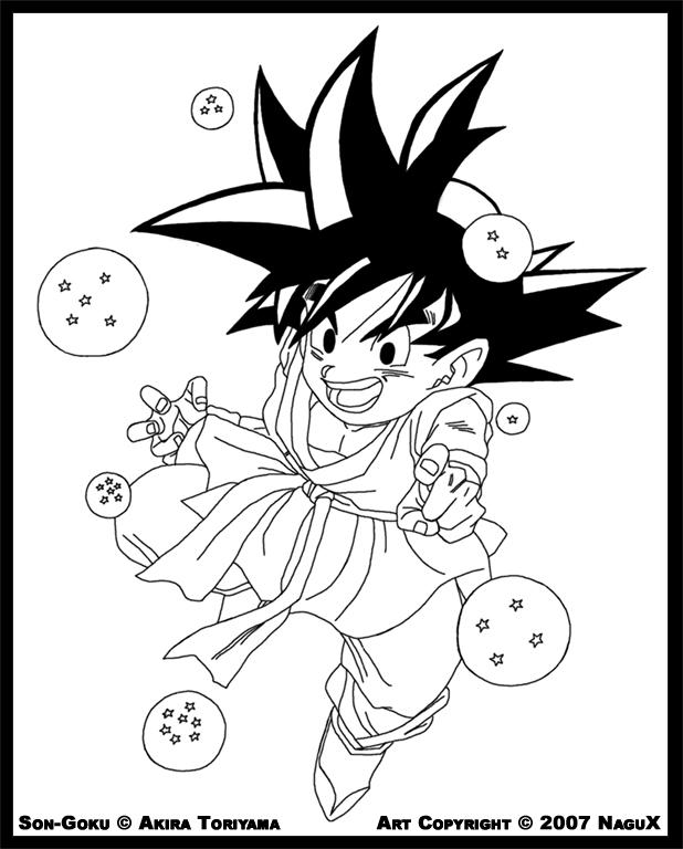 イラスト 塗り絵 イラスト : Dragon Ball GT Goku Drawing