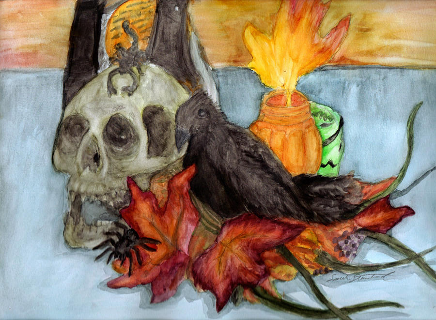 Halloween Still Life by animalartist16